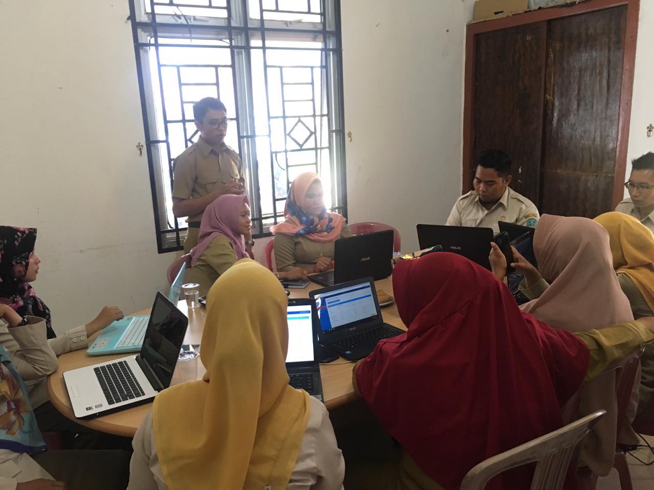Sosialisai Akte Kematian Online Sekelurahan/Desa di Kecamatan Belinyu - (Ada 3 foto)